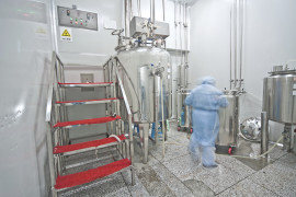 Modern pharmaceutical enterprise production line